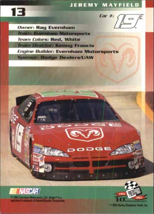 2003-Press-Pass-Racing-Eclipse-Stealth-Inserts-You-Pick-Buy-10-cards-FREE-SHIP thumbnail 62