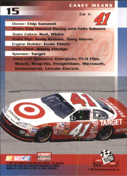 2003-Press-Pass-Racing-Eclipse-Stealth-Inserts-You-Pick-Buy-10-cards-FREE-SHIP thumbnail 66