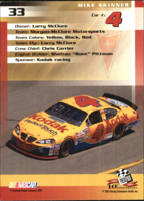2003-Press-Pass-Racing-Eclipse-Stealth-Inserts-You-Pick-Buy-10-cards-FREE-SHIP thumbnail 101