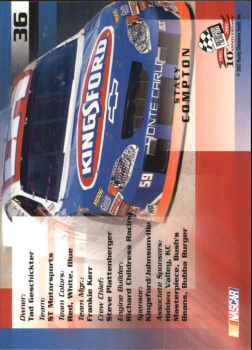 2003-Press-Pass-Racing-Eclipse-Stealth-Inserts-You-Pick-Buy-10-cards-FREE-SHIP thumbnail 107