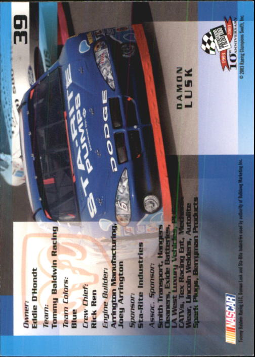 2003-Press-Pass-Racing-Eclipse-Stealth-Inserts-You-Pick-Buy-10-cards-FREE-SHIP thumbnail 113