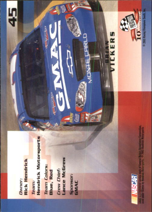 2003-Press-Pass-Racing-Eclipse-Stealth-Inserts-You-Pick-Buy-10-cards-FREE-SHIP thumbnail 125