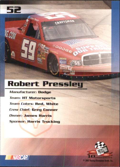 2003-Press-Pass-Racing-Eclipse-Stealth-Inserts-You-Pick-Buy-10-cards-FREE-SHIP thumbnail 137