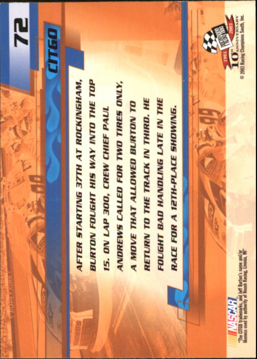 2003-Press-Pass-Racing-Eclipse-Stealth-Inserts-You-Pick-Buy-10-cards-FREE-SHIP thumbnail 177