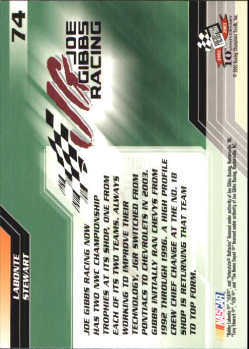 2003-Press-Pass-Racing-Eclipse-Stealth-Inserts-You-Pick-Buy-10-cards-FREE-SHIP thumbnail 181