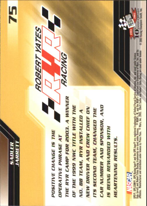 2003-Press-Pass-Racing-Eclipse-Stealth-Inserts-You-Pick-Buy-10-cards-FREE-SHIP thumbnail 183