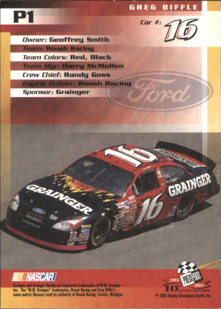 2003-Press-Pass-Racing-Eclipse-Stealth-Inserts-You-Pick-Buy-10-cards-FREE-SHIP thumbnail 197
