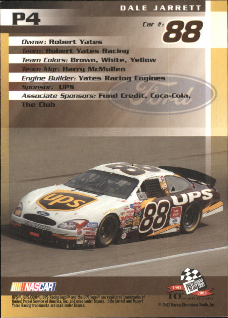 2003-Press-Pass-Racing-Eclipse-Stealth-Inserts-You-Pick-Buy-10-cards-FREE-SHIP thumbnail 201
