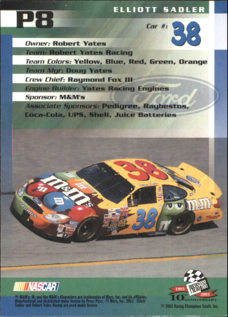 2003-Press-Pass-Racing-Eclipse-Stealth-Inserts-You-Pick-Buy-10-cards-FREE-SHIP thumbnail 207