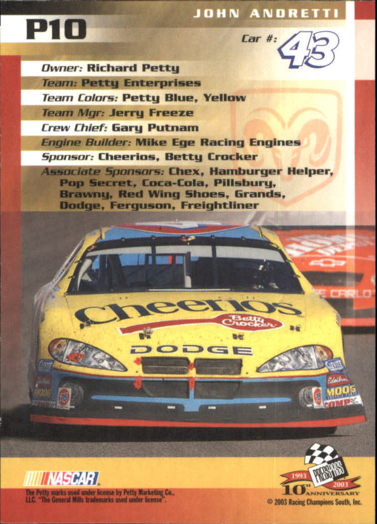 2003-Press-Pass-Racing-Eclipse-Stealth-Inserts-You-Pick-Buy-10-cards-FREE-SHIP thumbnail 209