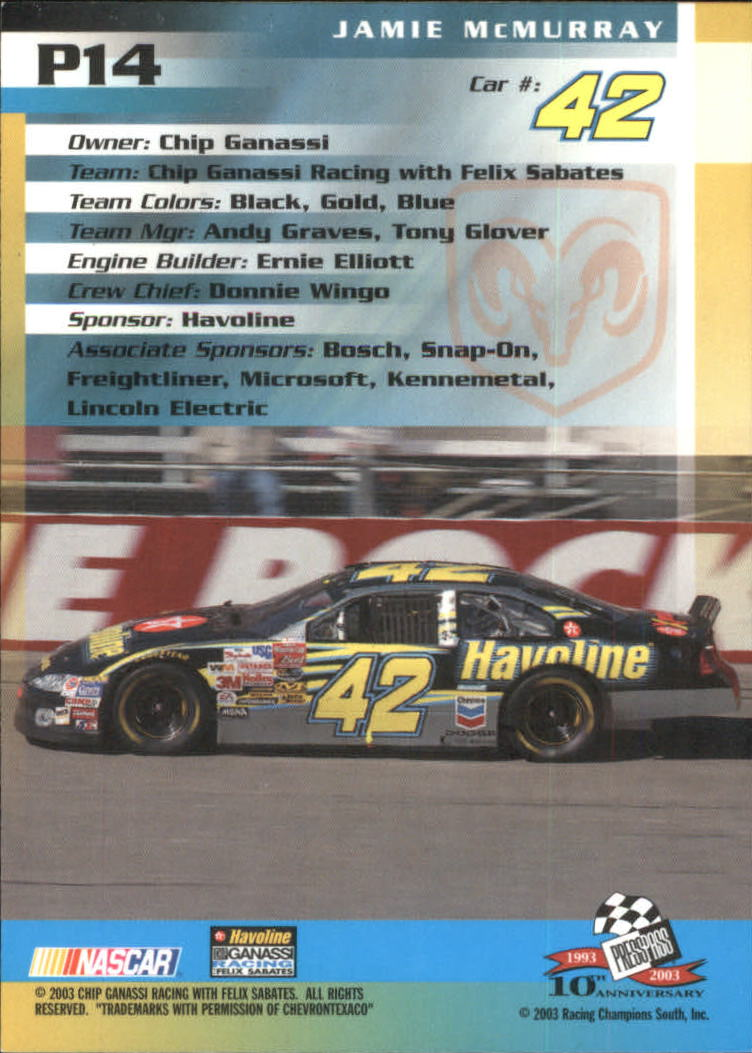 2003-Press-Pass-Racing-Eclipse-Stealth-Inserts-You-Pick-Buy-10-cards-FREE-SHIP thumbnail 211