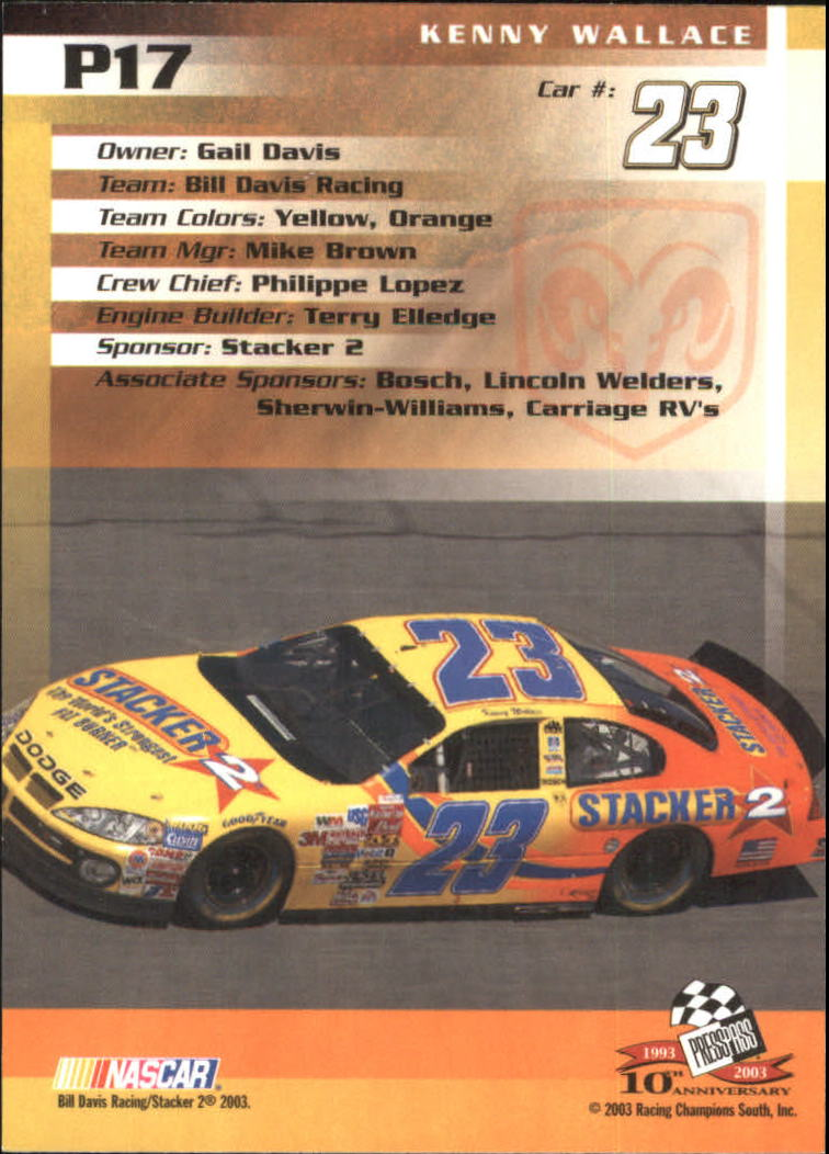 2003-Press-Pass-Racing-Eclipse-Stealth-Inserts-You-Pick-Buy-10-cards-FREE-SHIP thumbnail 217