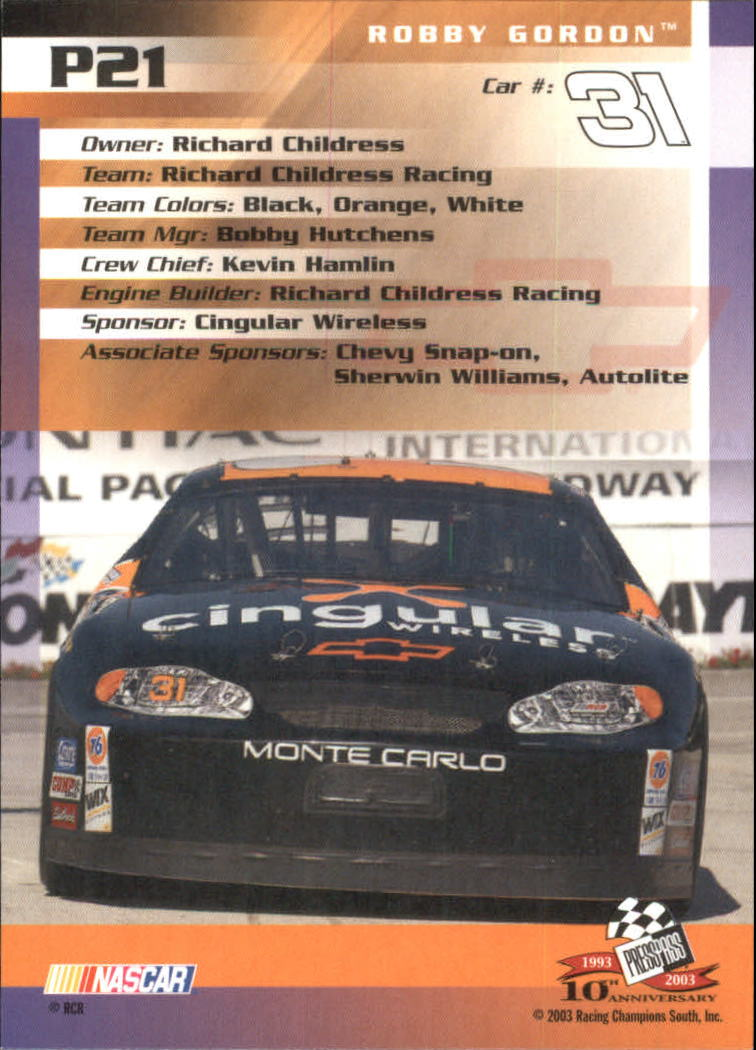 2003-Press-Pass-Racing-Eclipse-Stealth-Inserts-You-Pick-Buy-10-cards-FREE-SHIP thumbnail 221
