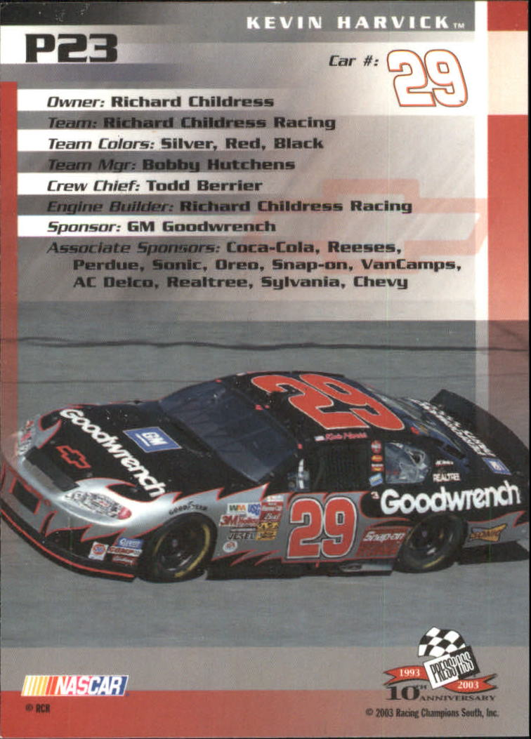 2003-Press-Pass-Racing-Eclipse-Stealth-Inserts-You-Pick-Buy-10-cards-FREE-SHIP thumbnail 225