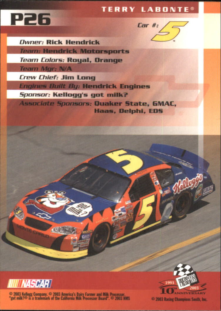 2003-Press-Pass-Racing-Eclipse-Stealth-Inserts-You-Pick-Buy-10-cards-FREE-SHIP thumbnail 229