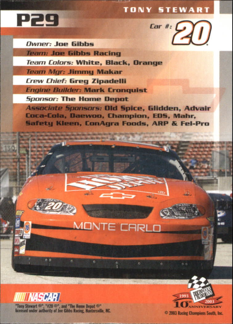 2003-Press-Pass-Racing-Eclipse-Stealth-Inserts-You-Pick-Buy-10-cards-FREE-SHIP thumbnail 231