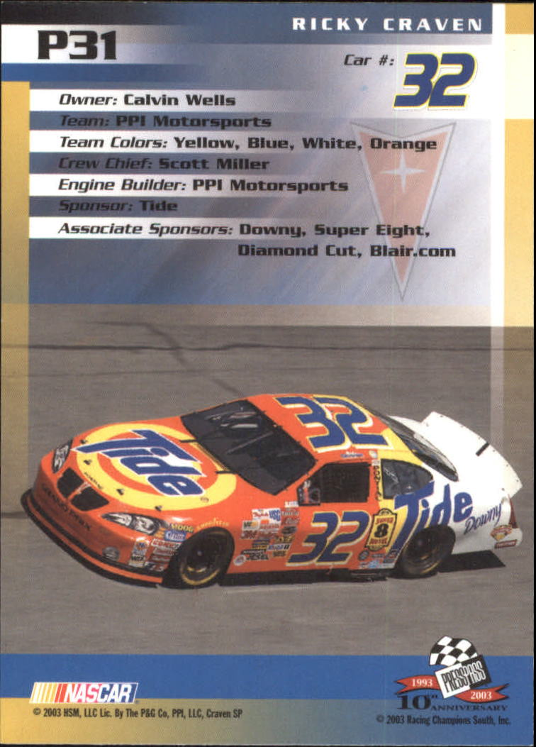 2003-Press-Pass-Racing-Eclipse-Stealth-Inserts-You-Pick-Buy-10-cards-FREE-SHIP thumbnail 235