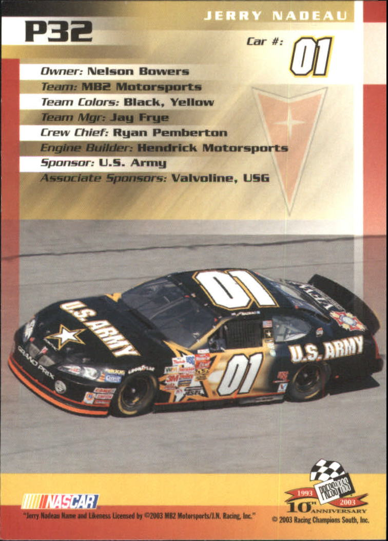 2003-Press-Pass-Racing-Eclipse-Stealth-Inserts-You-Pick-Buy-10-cards-FREE-SHIP thumbnail 237
