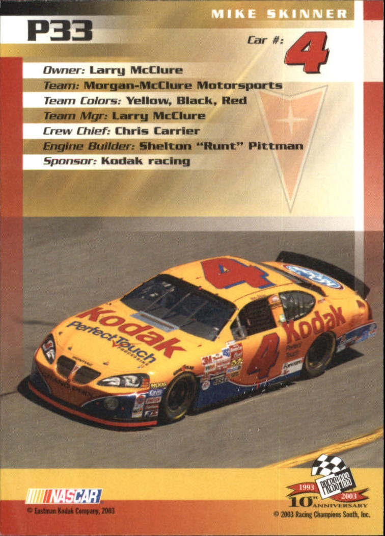 2003-Press-Pass-Racing-Eclipse-Stealth-Inserts-You-Pick-Buy-10-cards-FREE-SHIP thumbnail 239