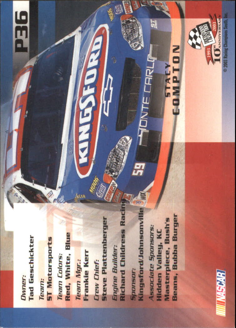 2003-Press-Pass-Racing-Eclipse-Stealth-Inserts-You-Pick-Buy-10-cards-FREE-SHIP thumbnail 243