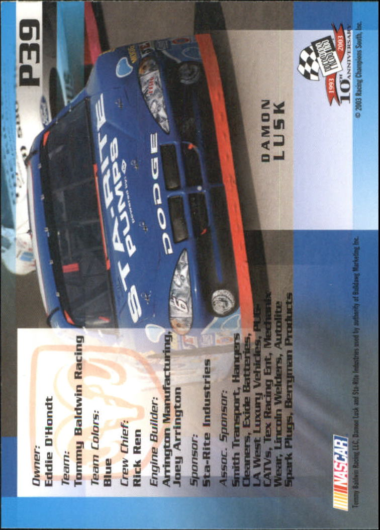 2003-Press-Pass-Racing-Eclipse-Stealth-Inserts-You-Pick-Buy-10-cards-FREE-SHIP thumbnail 245