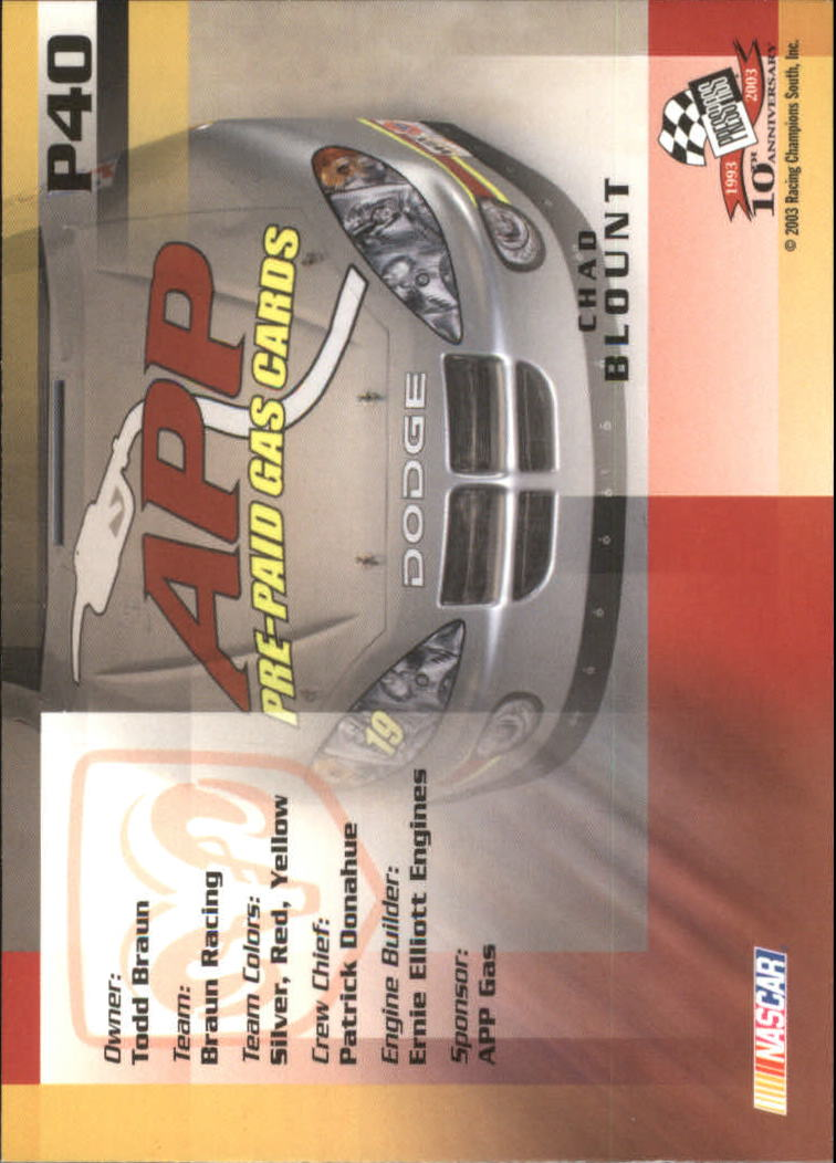 2003-Press-Pass-Racing-Eclipse-Stealth-Inserts-You-Pick-Buy-10-cards-FREE-SHIP thumbnail 247