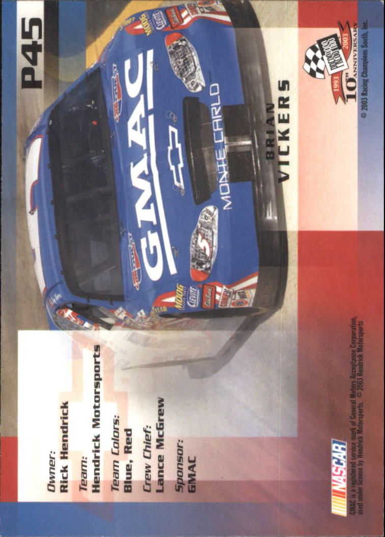 2003-Press-Pass-Racing-Eclipse-Stealth-Inserts-You-Pick-Buy-10-cards-FREE-SHIP thumbnail 255