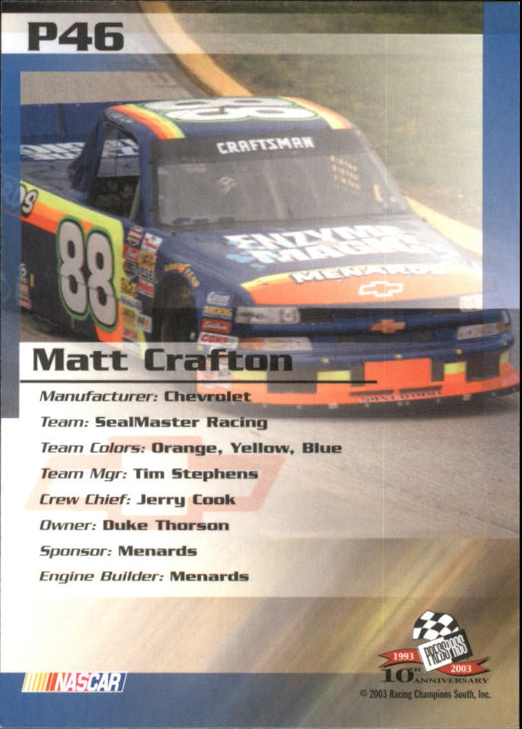 2003-Press-Pass-Racing-Eclipse-Stealth-Inserts-You-Pick-Buy-10-cards-FREE-SHIP thumbnail 257