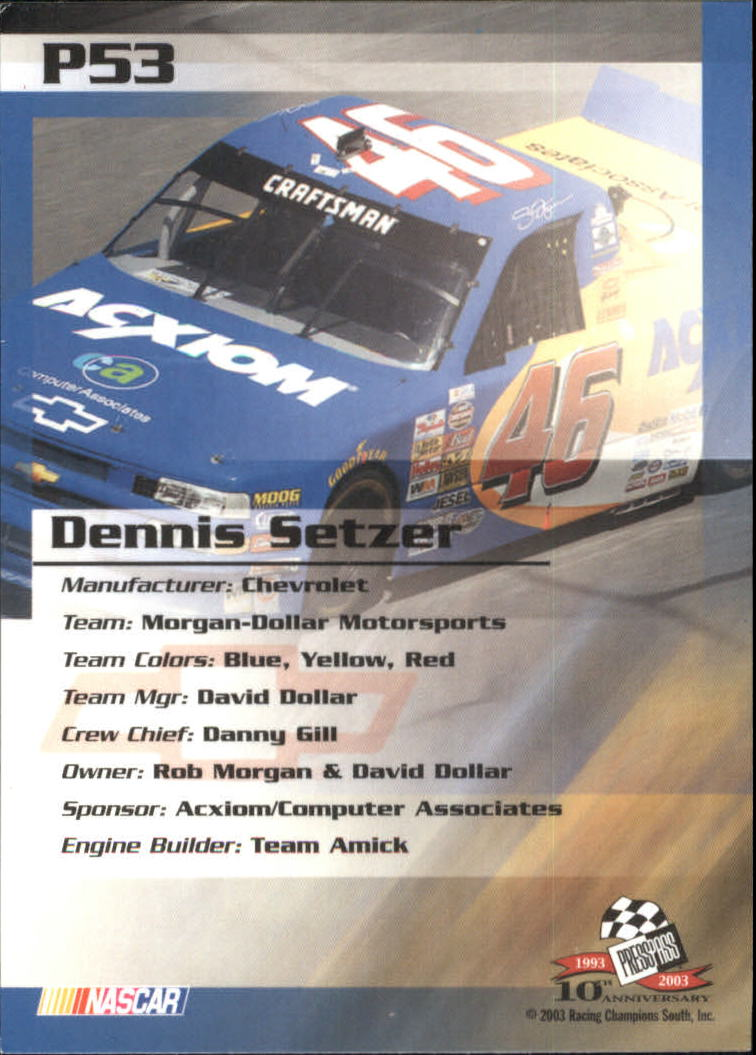 2003-Press-Pass-Racing-Eclipse-Stealth-Inserts-You-Pick-Buy-10-cards-FREE-SHIP thumbnail 263