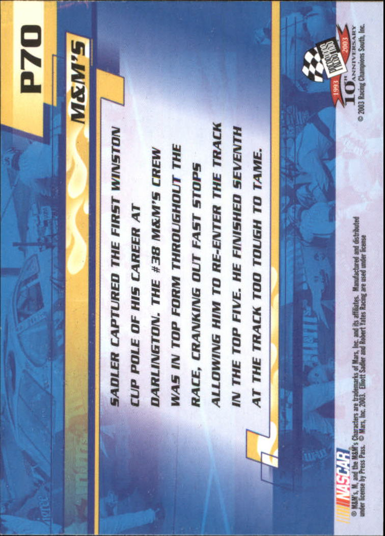 2003-Press-Pass-Racing-Eclipse-Stealth-Inserts-You-Pick-Buy-10-cards-FREE-SHIP thumbnail 291