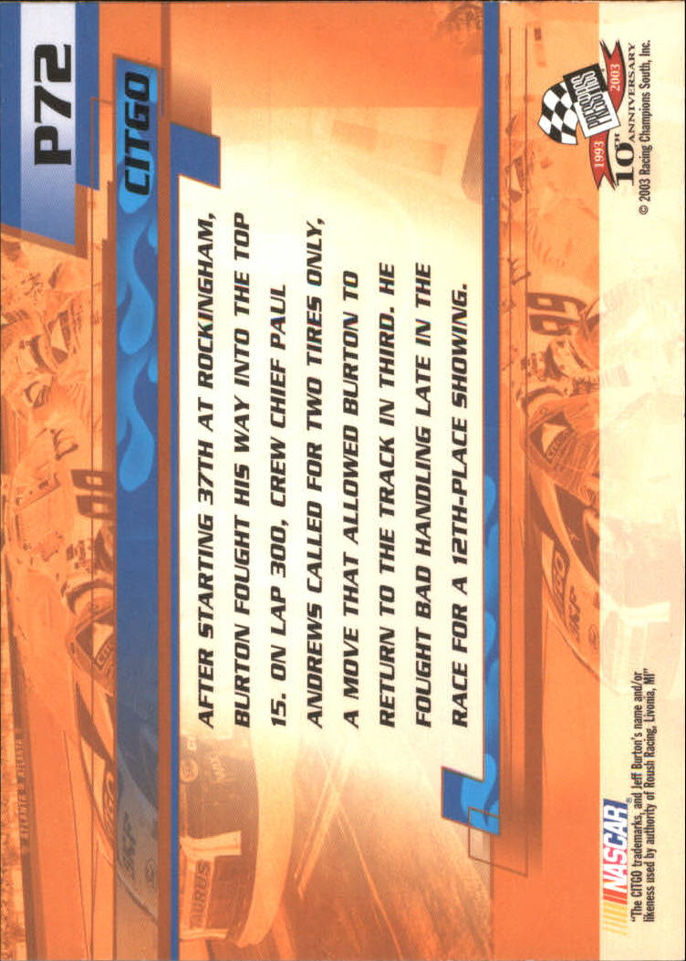 2003-Press-Pass-Racing-Eclipse-Stealth-Inserts-You-Pick-Buy-10-cards-FREE-SHIP thumbnail 293