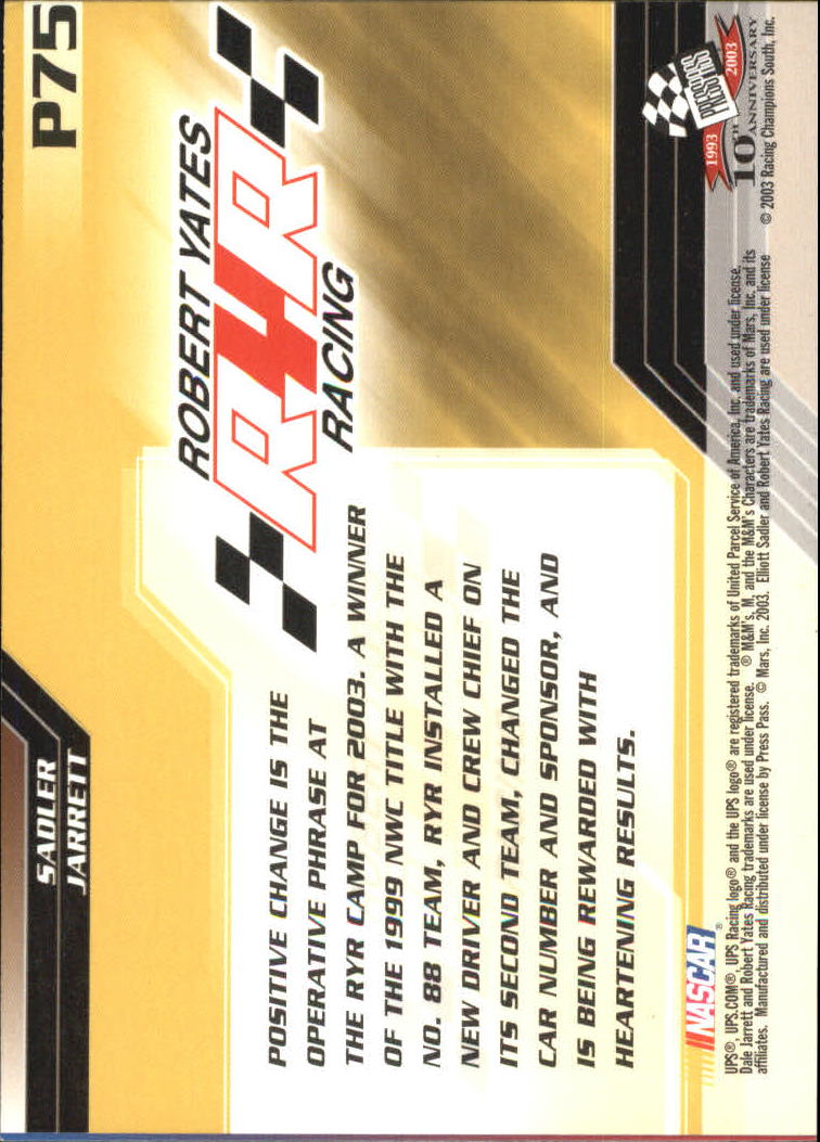 2003-Press-Pass-Racing-Eclipse-Stealth-Inserts-You-Pick-Buy-10-cards-FREE-SHIP thumbnail 299