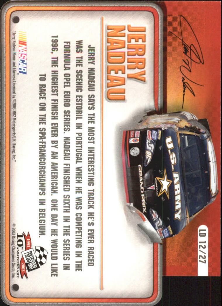 2003-Press-Pass-Racing-Eclipse-Stealth-Inserts-You-Pick-Buy-10-cards-FREE-SHIP thumbnail 323