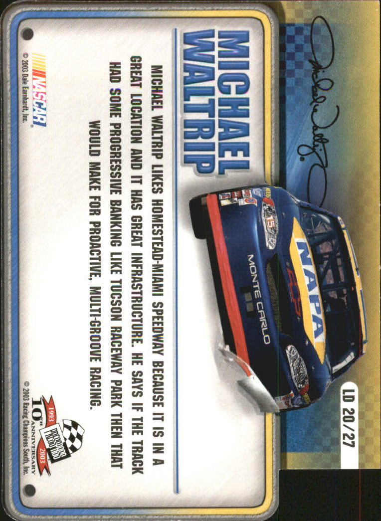 2003-Press-Pass-Racing-Eclipse-Stealth-Inserts-You-Pick-Buy-10-cards-FREE-SHIP thumbnail 337