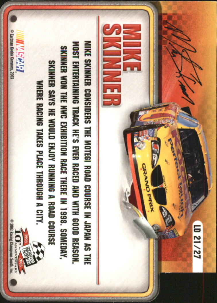 2003-Press-Pass-Racing-Eclipse-Stealth-Inserts-You-Pick-Buy-10-cards-FREE-SHIP thumbnail 339