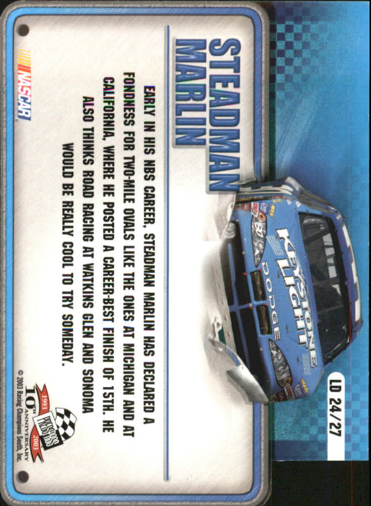 2003-Press-Pass-Racing-Eclipse-Stealth-Inserts-You-Pick-Buy-10-cards-FREE-SHIP thumbnail 345