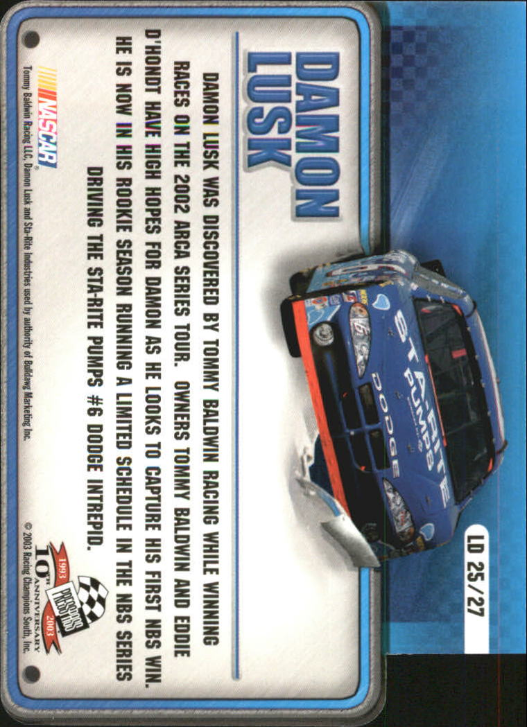 2003-Press-Pass-Racing-Eclipse-Stealth-Inserts-You-Pick-Buy-10-cards-FREE-SHIP thumbnail 347