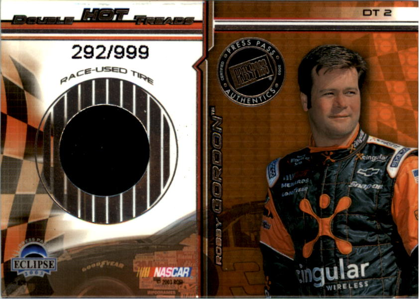 2003 Press Pass Eclipse Double Hot Treads #DT2 Robby Gordon/Kevin Harvick