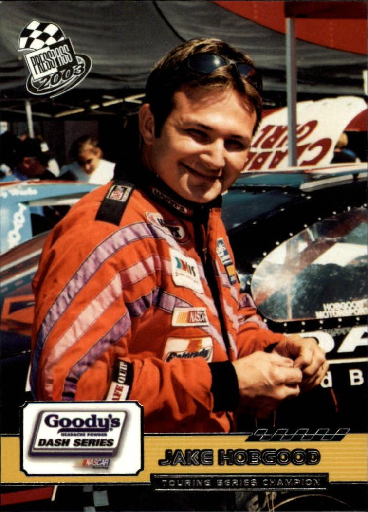2003 Press Pass #85 Jake Hobgood RC