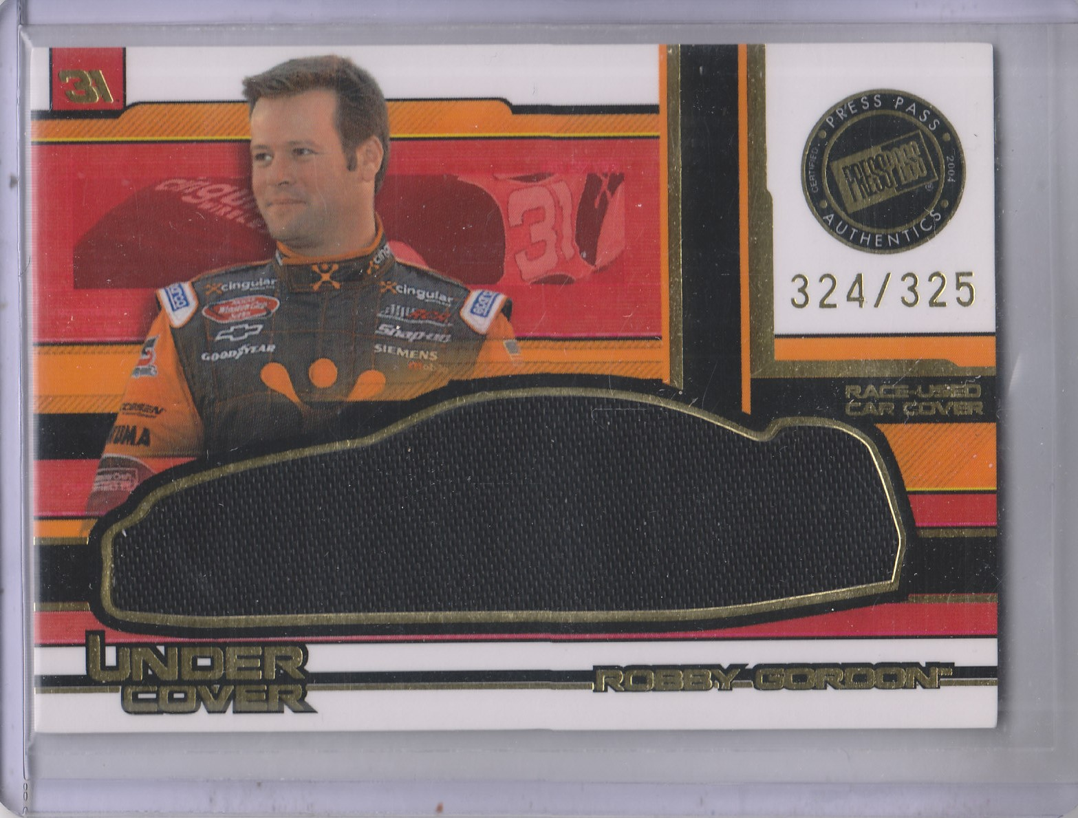 2004 Press Pass Eclipse Under Cover Driver Gold #UCD11 Robby Gordon