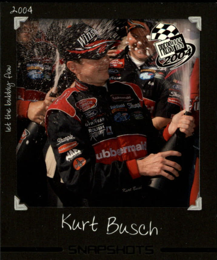2004 Press Pass Snapshots #SN4 Kurt Busch
