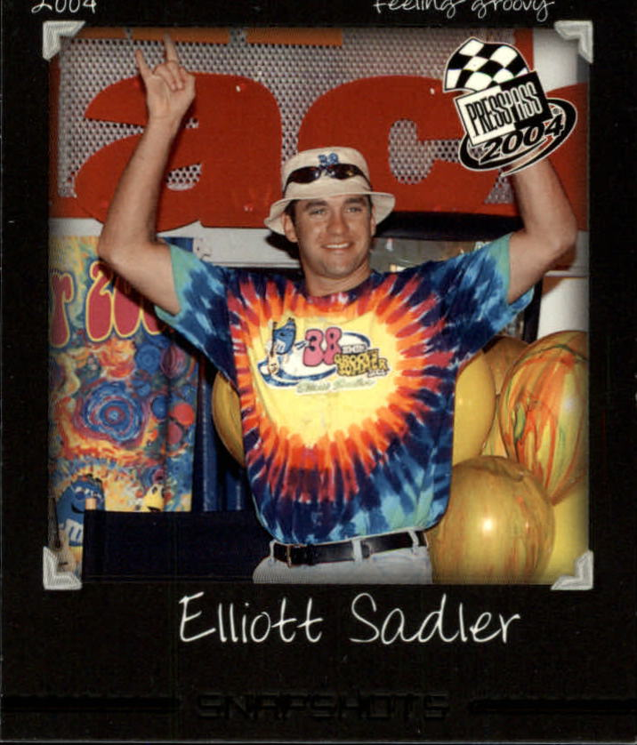 2004 Press Pass Snapshots #SN22 Elliott Sadler