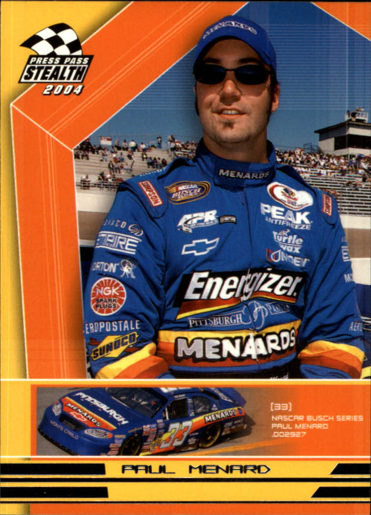 2004 Press Pass Stealth #68 Paul Menard RC