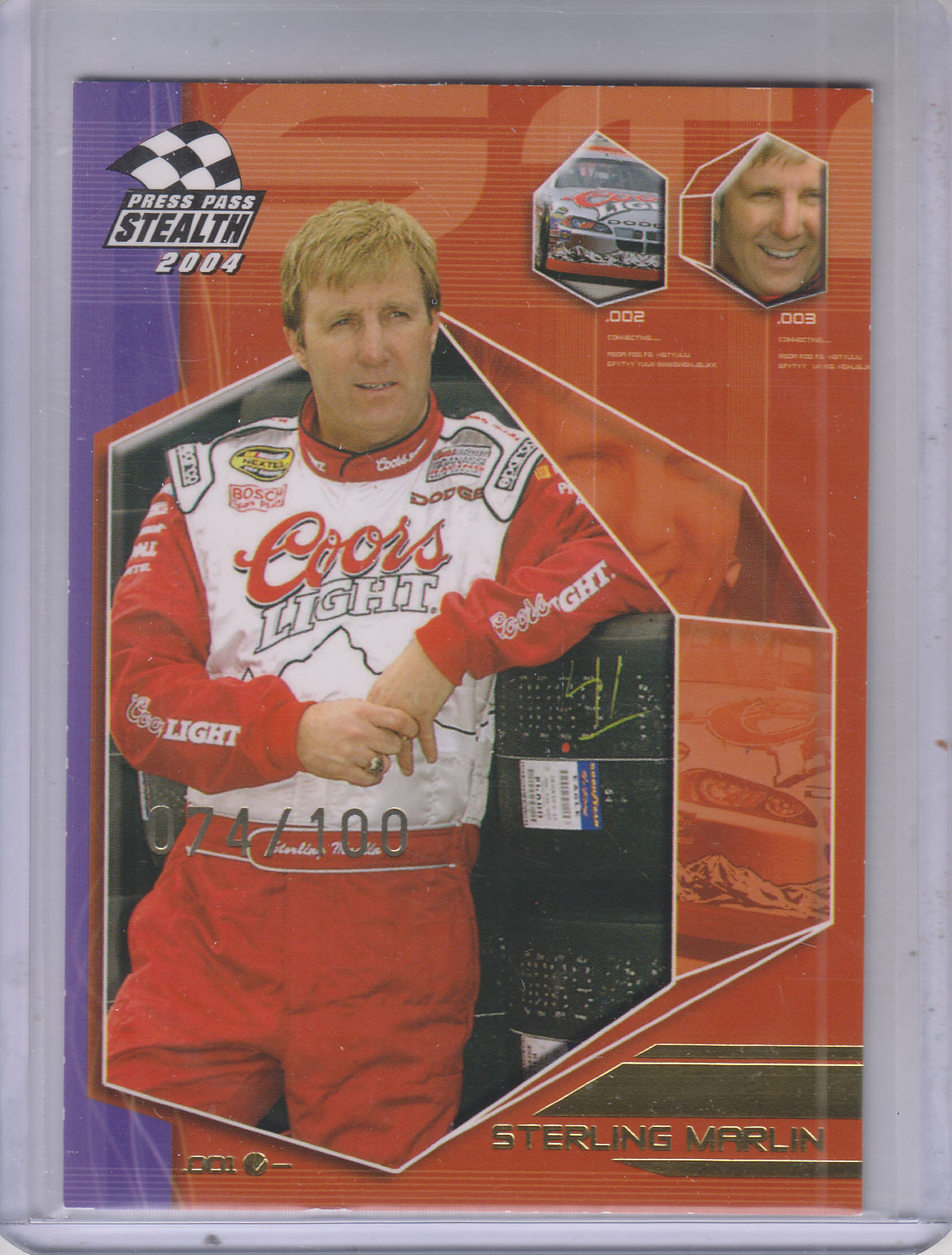 2004 Press Pass Stealth X-Ray #13 Sterling Marlin