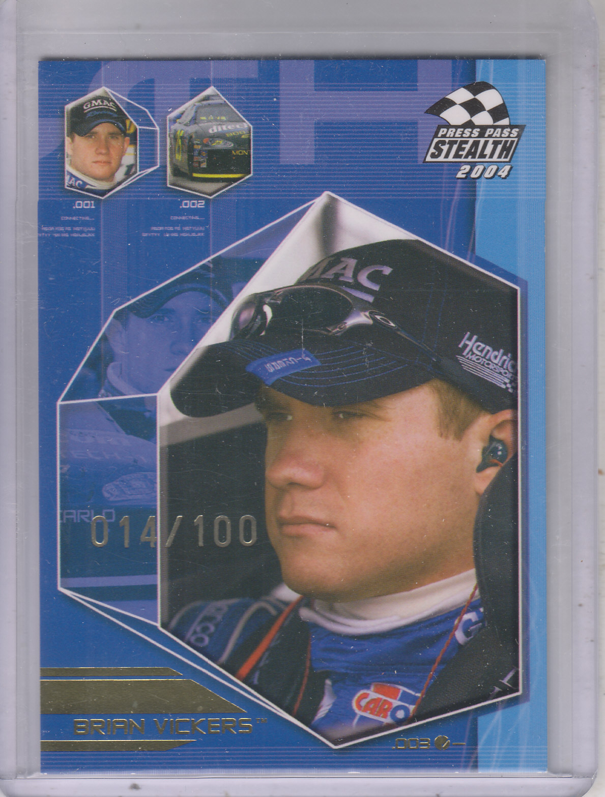 2004 Press Pass Stealth X-Ray #24 Brian Vickers