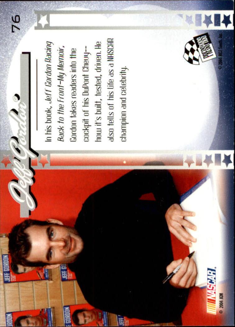 2004 Press Pass Optima #76 Jeff Gordon CP back image