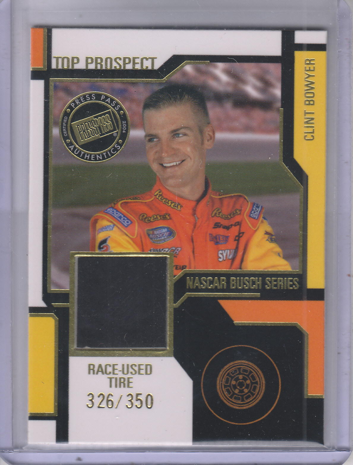 2004 Press Pass Top Prospects Memorabilia #CBT Clint Bowyer Tire