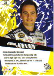 2005 Press Pass Stealth #39 Jimmie Johnson back image