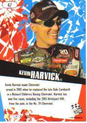 2005 Press Pass Stealth #47 Kevin Harvick back image