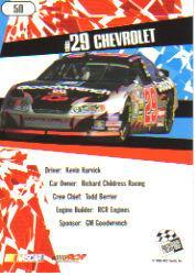 2005 Press Pass Stealth #50 Kevin Harvick's Car back image